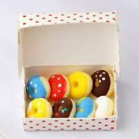 1:12 Dollhouse Miniature Food Donut Box Mini Simulation Donut Colorful Donuts