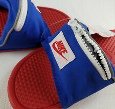 Nike Benassi Fanny JDI Pack Slide Sandals red white blue pocket zipper. New.