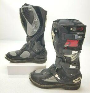 Sidi Flex Force Motorcycle Motocross Boots Black Size Men's US 12.5 EUR 47