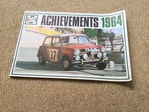 Castrol achievements 1964 Booklet