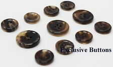 Made in Italy Brown Genuine Horn Buttons For Suit, Blazer, or Sport Coat
