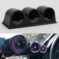 "1* Car Black 2"" 52mm 3 Triple Hole Dash Gauge Pod Mount Holder ABS Universal dbg"