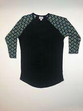 LuLaRoe Randy Black Floral Pattern Tee SUPER SOFT XS L XL