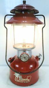 Vintage Coleman 200A Red Single Mantle Lantern July 1968