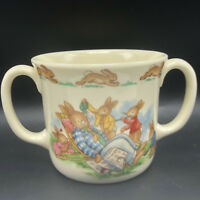 ROYAL DOULTON BUNNYKINS MUG CUP 1936 antique England bone china 2 two handle UK