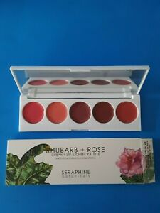 Seraphine Botanicals Rhubarb + Rose Creamy Lip and Cheek Palette - New (CM)