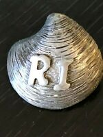 Vintage Collectible R I Shell Metal Pinback Lapel Pin Hat Pin