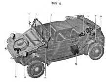 Dienstvorschrift VW Kübelwagen K1 Typ 82 Gerätbeschreibung