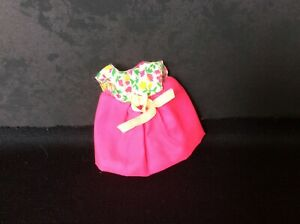 Mattel Barbie Sister Tutti Pink Dress With Floral Bodice & Panties
