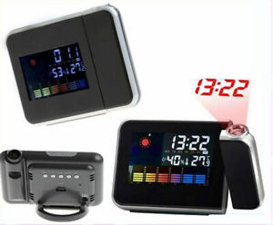 Digital Colour Screen Calendar LED Projector Alarm Clock Weather DS-8190