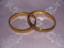 "MONET Textured Gold Plated Bangle Bracelets - Size: 2.5"" (S/M) - EXCELLENT COND."