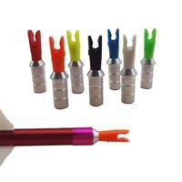 ID4.2mm 12pcs Archery Arrow Plastic Nocks Tails +Aluminum Pin Needles DIY Shaft