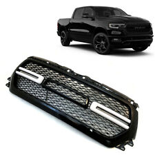 For 2019-2020 Dodge Ram 1500 Painted Black Front Grill Mesh Grille w/LED Lights