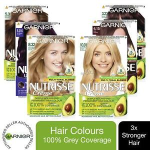 3 Pack Garnier Nutrisse Permanent Hair Dye With Different Shades