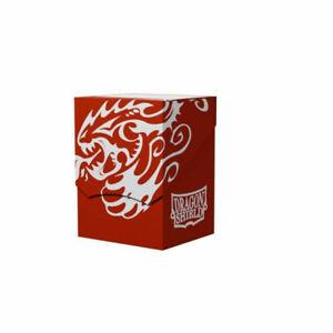 Red-Black Deck Shell Deck Box 80+ Case Dragon Shield NEW