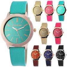 Armbanduhren aus Kunstleder mit Rotgold für Damen