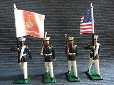 4 soldats de plomb - US Marine Corps