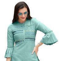 Women Fashion Short Embroidery Rayon Kurti Tunic Kurta Top Shirt Tunic Dress