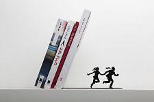 Metal Book ends Book Holder Book Supporter Runaway Book Shelf Decor