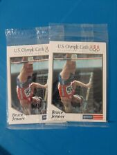 Bruce Caitlyn Jenner USA Olympic Decathalon Gold Sealed Pack Cards x2