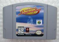 *GREAT* Automobili Lamborghini Nintendo 64 N64 Video Game Cart Retro Race 🏎