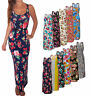 Womens Jersey Midi Maxi Long Dress Boho Summer Beach Floral White  8 10 12 14