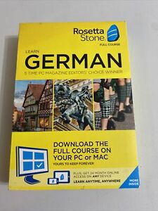 Rosetta Stone - German Full Course Online Subscription - FREE SHIPPING BOX