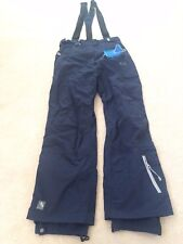NEW Trespass Mens WATERPROOF snowboard pants removable suspenders navy blue