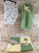 Nojo Jungle Babies Nursery Bedding Decor Mini Crib Skirt Sheet & Diaper Stacker