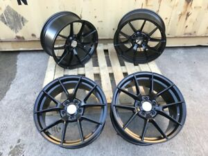 """Alloy Wheels 19"""" Competition 763m Style Staggered SATIN Black BMW 3 4 5 6 Series"""