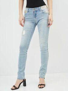 Desigual light denim jeans size 26, UK-AUD8 NWT Stretch Tall (P32)