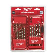 Milwaukee drill bit set HSS 19 piece thunderweb jobber and case 4932352374