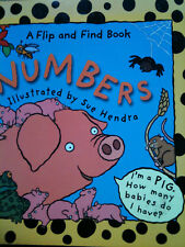 Flip And Find Numbers by Sue Hendra (Paperback, 2001) UNDERSTAND NUMBERS 3+