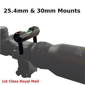 Piggy Back Rifle Scope Mount Spirit Bubble Level 30mm 25mm Airsoft Airgun Gun