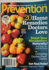 Prevention September 2016 20 Home Remedies Doctors Love Relief FREE SHIPPING sb