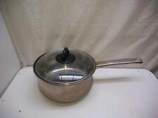 Chef's Mark Stainless Copper Base 3 Qt Saucepan Saute Stir Fry Pot Casserole Lid