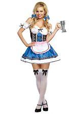 Beer Girl Costume Adult Sexy Oktoberfest Halloween Fancy Dress