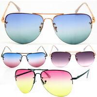 Aviator Premium Ocean Lens Sunnies Designer Semi Rimless Sunglasses for Women