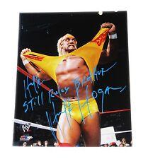 WWE HULK HOGAN HAND SIGNED PHOTO FILE PHOTO W/ INSCRIPTION AND PROOF 5