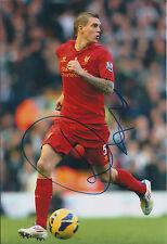 Daniel AGGER Signed Autograph 12x8 Photo AFTAL COA Liverpool Premier League RARE