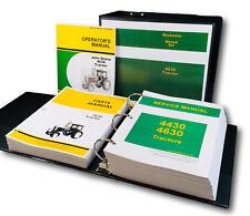 Service Parts Operators Manual Set For John Deere 4630 Tractor Repair Shop Book
