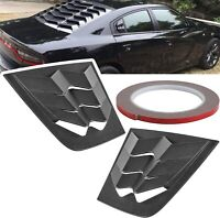 2pcs Side Window Louvers ABS Scoop Sun Shades Cover for Dodge Charger 2011-2020