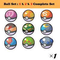 Pokemon Serial code Ball Set 1 & 2 & 3 Complete set Sword & Shield