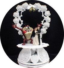 TASMANIAN Devil TAZ Joins Your wedding Cake topper Groom top Looney tunes