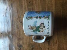Vintage 1984 Wedgwood Peter Rabbit Beatrix Potter Merry Christmas Mug