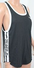 VICTORIA'S SECRET Pink Campus Muscle Scoop Tank Top Color Black Small NWT