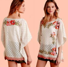 New listing Anthropologie Embroidered Poncho Petite Small PS P2 P4 Swim Cover Up Mesh or Top