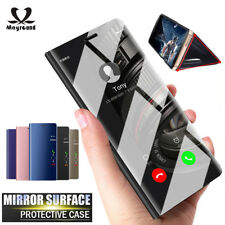 Clear Smart View Mirror Case Stand Cover Flip Leather Case For Oneplus 6 / 6T
