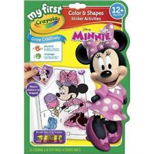 Crayola  Colour & Shapes Sticker Activities Book Minnie Mouse For Kids