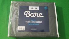 New, Smoked Pearl Bare 1800 Series Ultra Soft 3 Piece Sheet Set (Twin Xl)